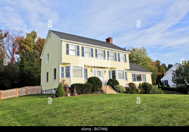 New england colonial home stock photos new england for New england colonial style