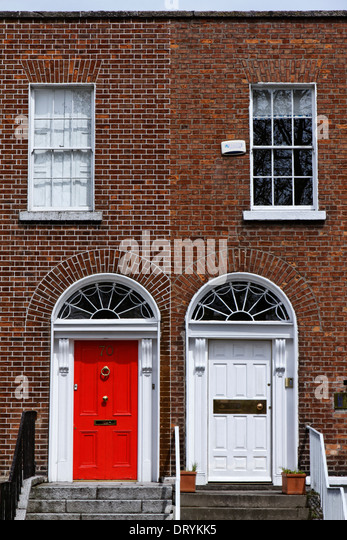 Doors and Georgian style architecture in Dublin, Ireland - Stock Image