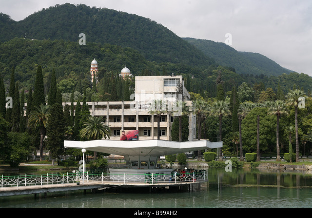 The Abkhazia seaside holiday hotel in Novy Afon New Athos Abkhazia - Stock Image
