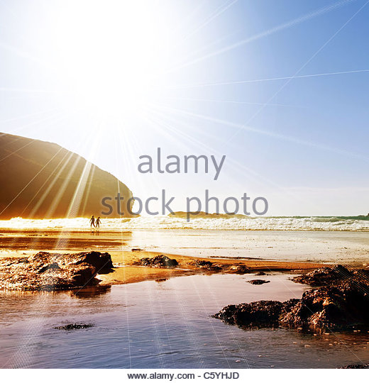 sunshine beach - Stock Image