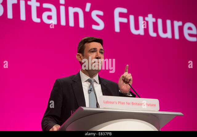 Andy Burnham MP for Leigh and Shadow health secretary - Stock Image