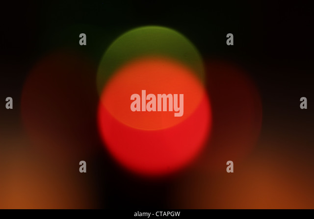 fine abstract image of red and green lights - Stock Image