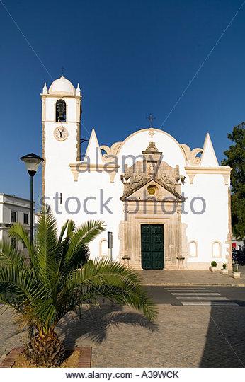 Portugal Algarve near Faro Luz de Travira Igreja Matriz - Stock Image