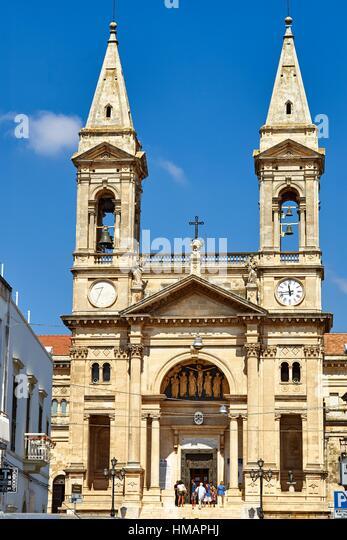 Basilica of Santi Cosma e Damiano. Alberobello, Apulia, Italy - Stock Image
