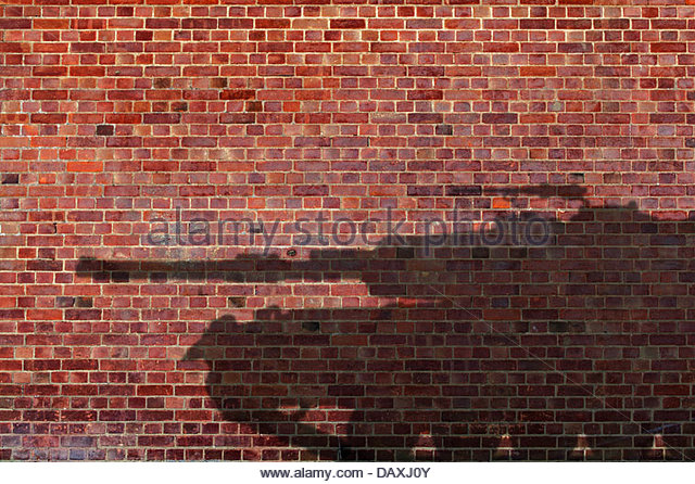 tank shadow - Stock Image