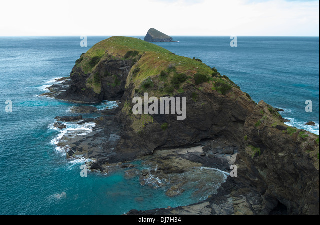 View over Mutton Bird Island from the lookout, Lord Howe Island, Australia - Stock Image