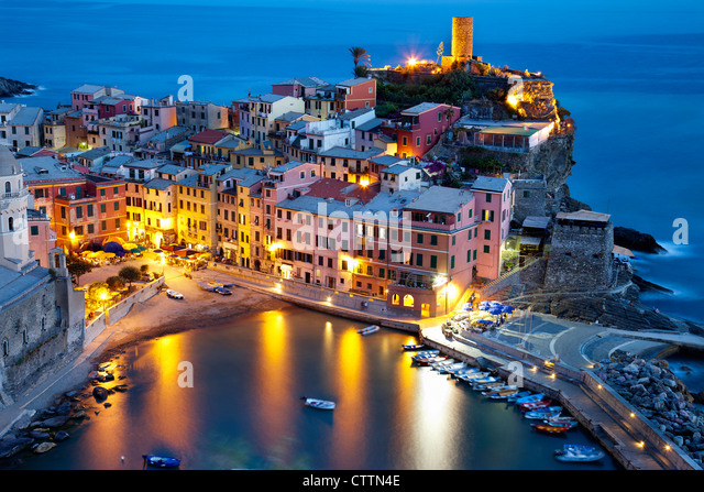 View of Vernazza.National Park of CInque Terre (Liguria,Italy) - Stock-Bilder