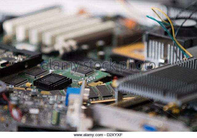 electronic waste - Stock Image