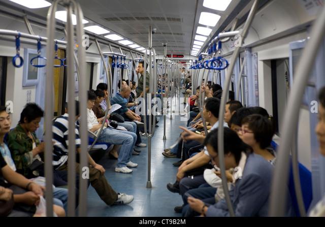 Asia china subway tube travel stock photos asia china subway tube travel stock images alamy - Carrage metro ...