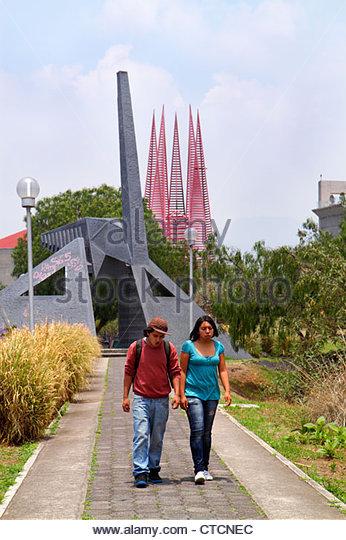 Mexico Mexico City DF D.F. Ciudad de México Federal District Distrito Federal Ciudad Universitaria UNAM art - Stock Image