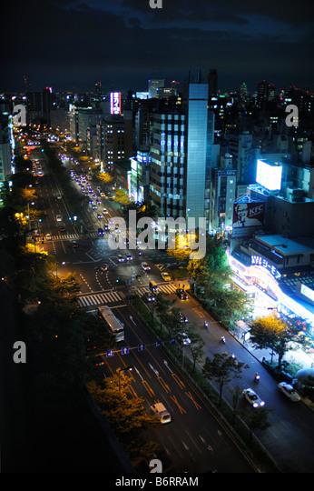 Osaka by Night - Stock Image