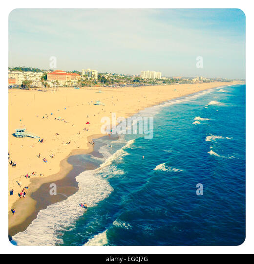 Santa Monica Beach, California, America, USA - Stock Image