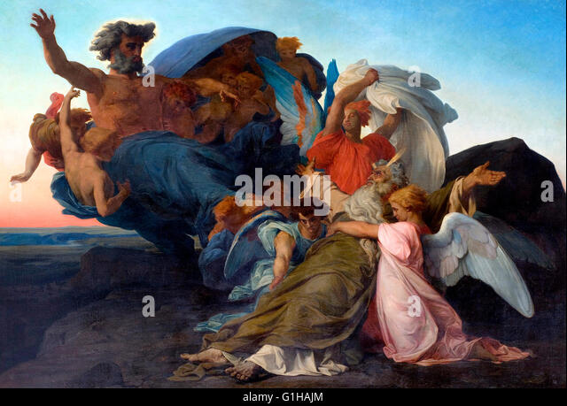 Death of Moses - Alexandre Cabanel 1850 - Stock-Bilder