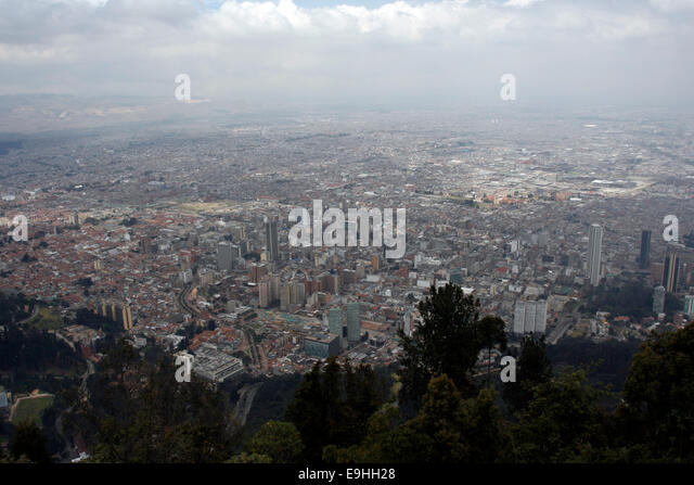 View over Bogota, Colombia - Stock Image