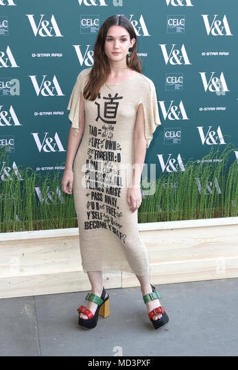 London, UK. 18th Apr, 2018. Sai Bennett, Fashioned from Nature - VIP Preview, Victoria and Albert Museum, London UK, 18 April 2018, Photo by Richard Goldschmidt Credit: Rich Gold/Alamy Live News - Stock Image