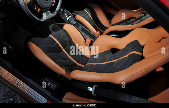 red leather interior of car stock photos red leather interior of car stock images alamy. Black Bedroom Furniture Sets. Home Design Ideas