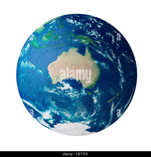 Globe showing the continent of Australia - Stock Image