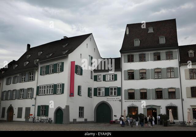 Museum der Kulturen (Museum of Cultures) at Münsterplatz in Basel, Switzerland. - Stock-Bilder