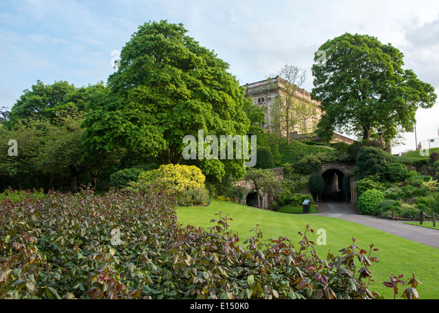 Spring at Nottingham Castle, Nottinghamshire England UK - Stock Image