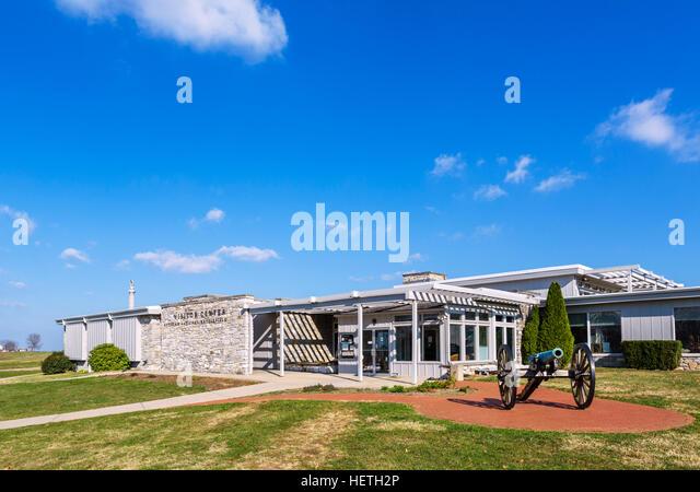 Antietam National Battlefield Visitor Centre, Sharpsburg, Maryland, USA - Stock Image