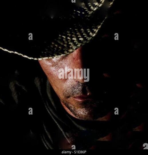 Cowboy in black - Stock-Bilder