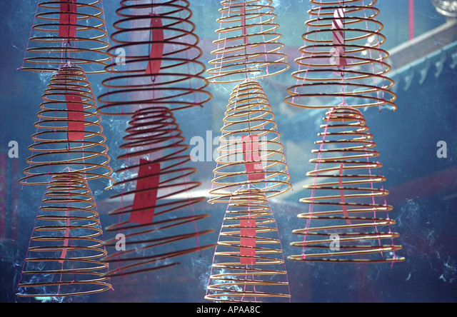 Incense Coils in a Chinese Temple, Kuala Lumpur (Malaysia) - Stock-Bilder