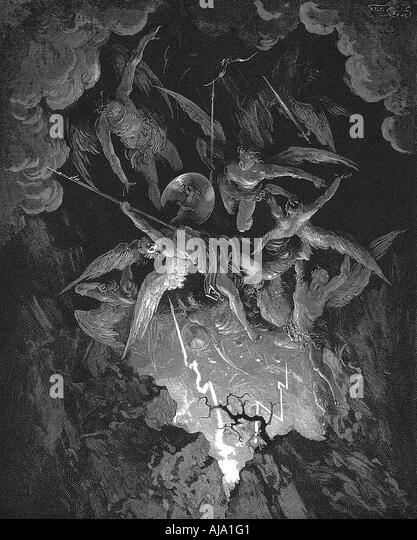 Illustration from John Milton s Paradise Lost 1866  - Stock-Bilder