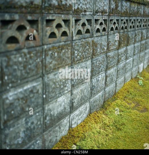 Shrine wall, Fukushima, Japan - Stock Image