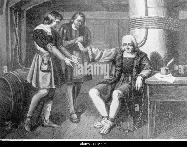 Return of Christopher Columbus, 1500 - Stock-Bilder