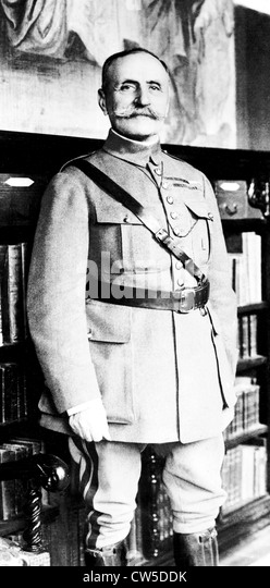 Portrait of French Marshal Foch - Stock Image
