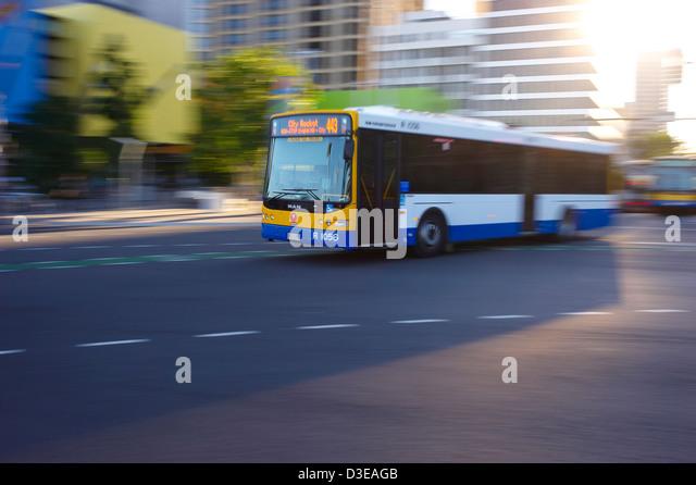Brisbane City Council Bus Australia - Stock Image