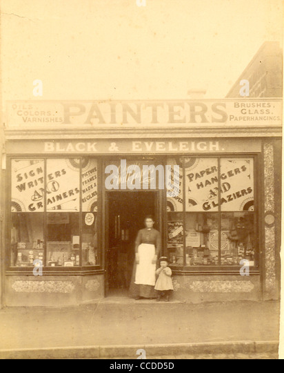 Cabinet photograph of sign writer and painters shop, Black & Eveleigh - Stock-Bilder