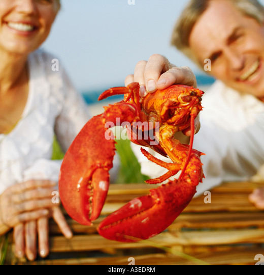 Man Holding A Lobster Stock Photos & Man Holding A Lobster Stock Images - Alamy