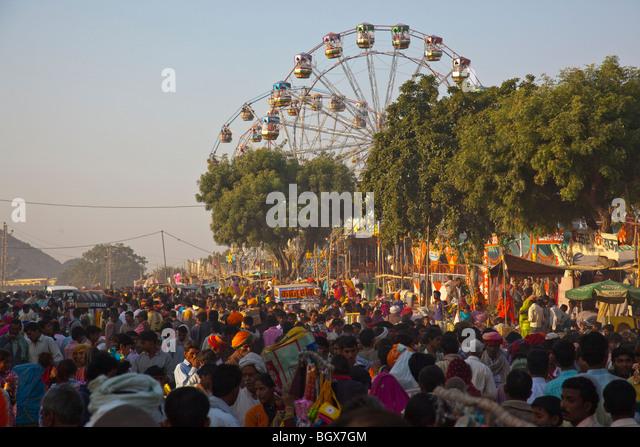 Camel Fair in Pushkar India - Stock-Bilder