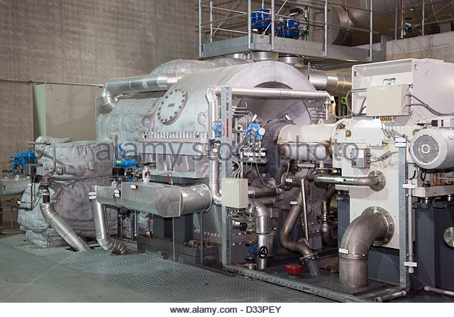 transformer of thermal energy,tridel sa,plant for the thermal and electrical conversion of the garbage,lausanne,switzerland - Stock Image