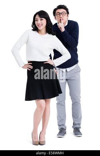 Humorous young couple - Stock Image