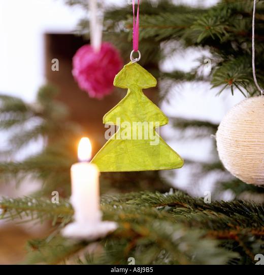 Handmade Christmas decoration - Stock Image