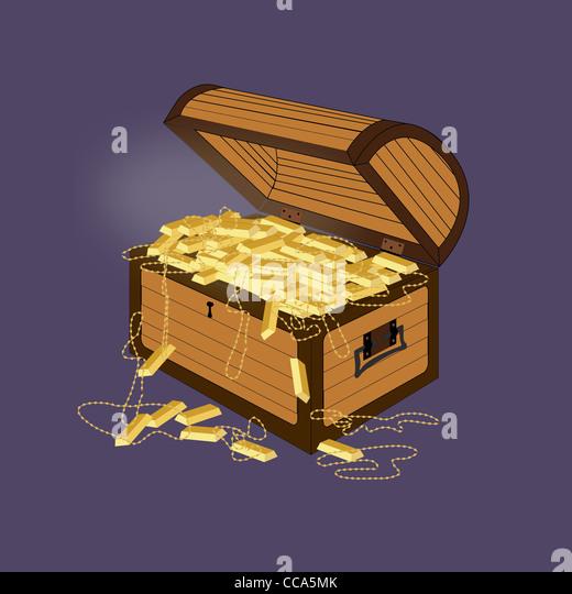 Treasure Chest Illustration Stock Photos & Treasure Chest Illustration ...