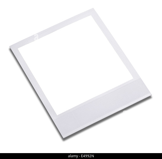 Blank instant photo print frame - Stock Image