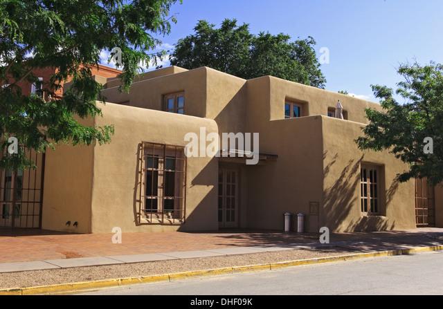 O'Keefe Museum, Santa Fe, New Mexico USA - Stock Image
