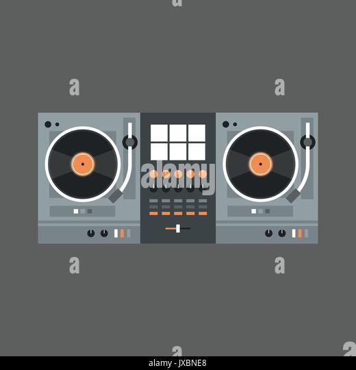Modern Classroom Recorder ~ Dj turntable mixer equipment top stock photos