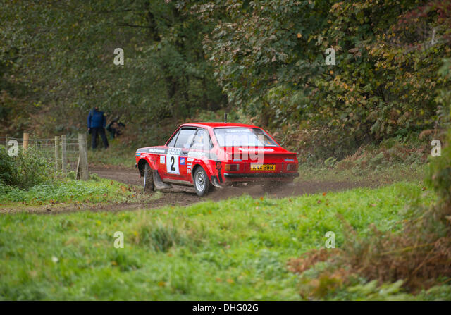 Duncombe Park, North Yorkshire, UK . 09th Nov, 2013. UK RAC Rally Duncombe Park Special Stage 8. Matthew Robinson - Stock Image