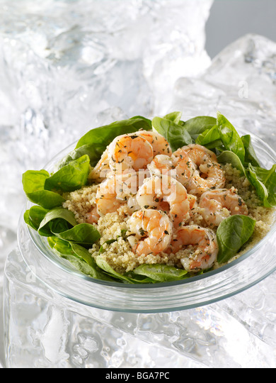 Shrimp and quinoa salad - Stock Image