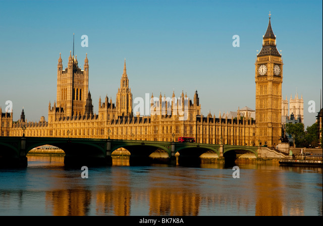 Houses of Parliament and Big Ben, UNESCO World Heritage Site, Westminster, London, England, United Kingdom, Europe - Stock Image