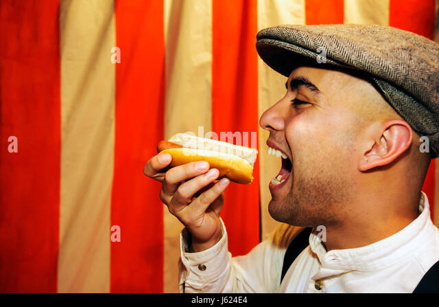 Indiana Valparaiso Chicago Street Theatre Assassins characters drama man actor performer play stage costume entertain - Stock Image