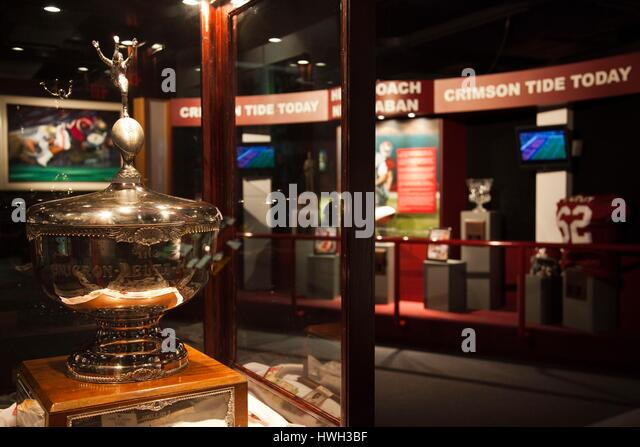 United States, Alabama, Tuscaloosa, University of Alabama, Paul 'Bear' Bryant Museum, memorabilia of famous - Stock Image