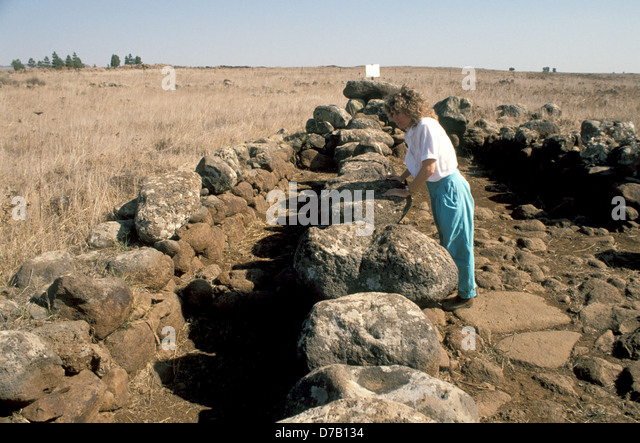 Rasm Harbush site of the Calcolithic period - Stock Image