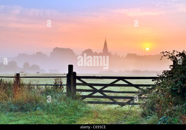 Wiltshire Summer Sunrise - Landscape - Stock Image