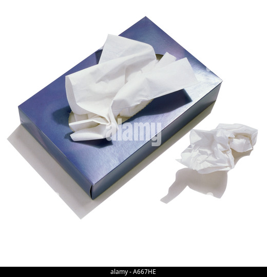 A box of tissues - Stock Image
