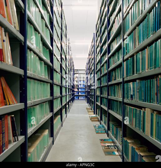 Books in an archive - Stock-Bilder